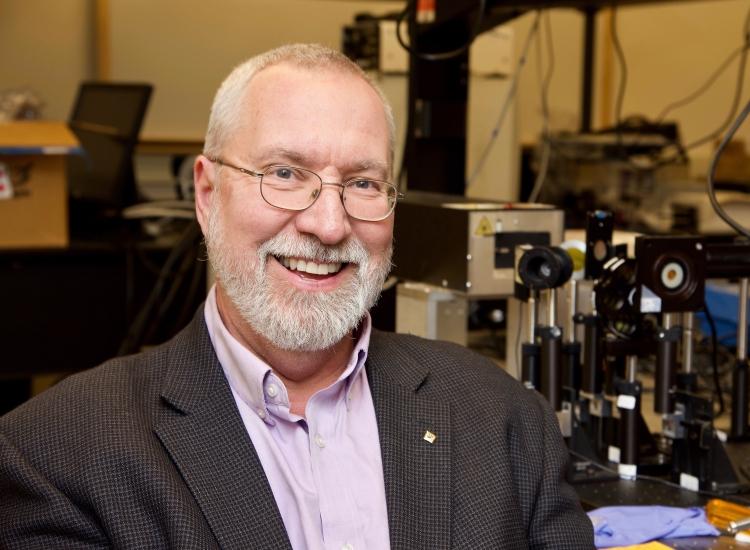 Glenn Boreman in lab